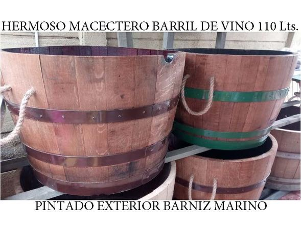 MACETEROS DE BARRIL DE ROBLE
