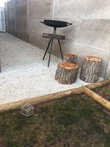 conchuela decorativa blanca para jardín
