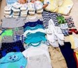 Lote ropa bebé 0 a 3 meses y pañales