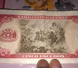 Venta de billetes antiguos de Chile