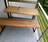 Mesa de madera diseño más asiento