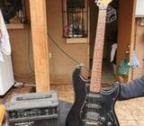 Guitarra eléctrica más amplificador
