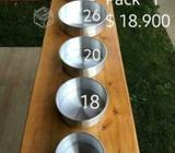 Set de Moldes de aluminio desmontables de biscocho