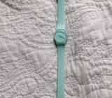 Reloj swatch verde agua